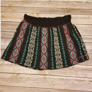 Billabong Aztec BOHO Skirt Teal Black LARGE